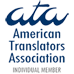 Anastasia is a member of: American Translators Association | Associate member (membership number: 254614)